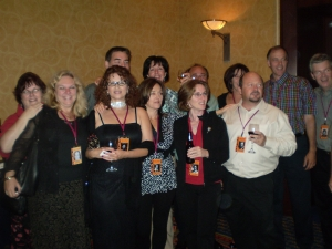 Sorrows Gang (back row) Christine Thompson, Joe Doran, Mary Beth Mathe, Paul Bokor, Julie Bates, Nick DeJulio, Peter Car