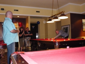 David Stewart, Marg Riley, Patrick Grace, Jeff (pool shark) Hudson