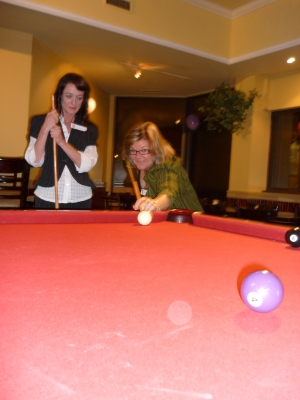 Sharon Bell, Leslie (pool shark) Corrigan